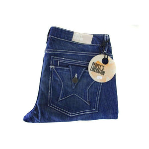 Peoples Liberation Womens Mid Blue Jeans Size W30 RRP149 LY23