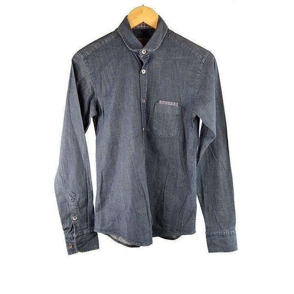 Rough Justice Denim Blue Shirt Size S RRP75 LY08