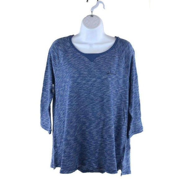 Scotch and Soda Blue Striped Indigo Tee Size 8 RRP60 LY16