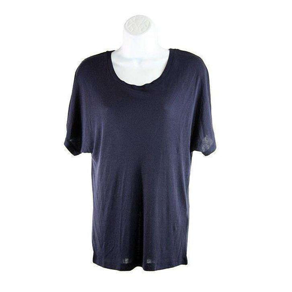 SET Navy Womens Blue Short Sleeve Tee Size UK8 RRP65 LY42