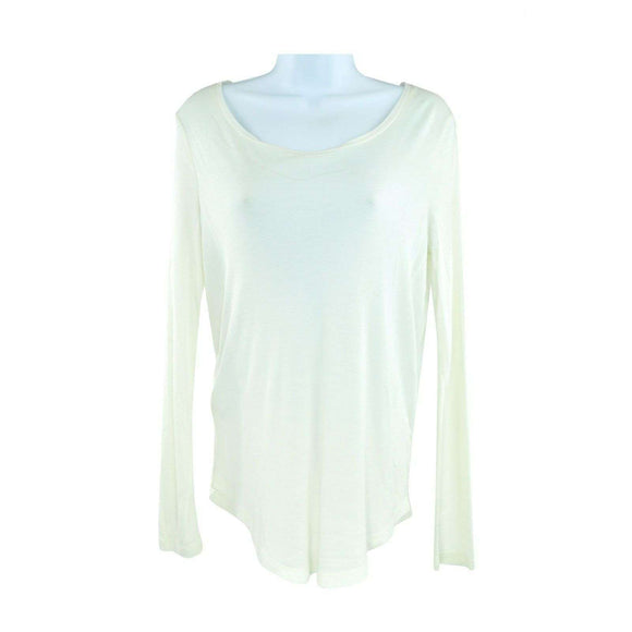 SET Off White Long Sleeve Top Size 36 RRP79 LY27
