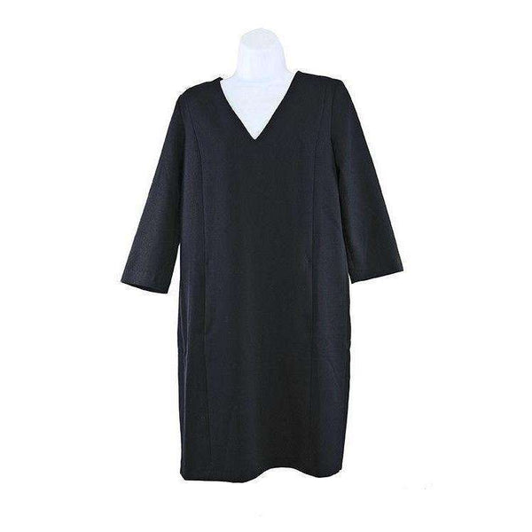 SET Womens Navy Blue Wool Stretch Dress Size UK10 RRP189 LY40