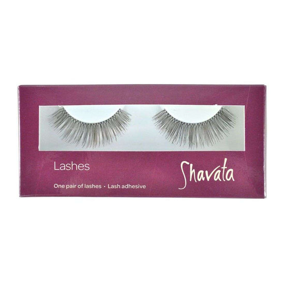 Shavata 1 Pair of Lashes With Adhesive Brown SHA21
