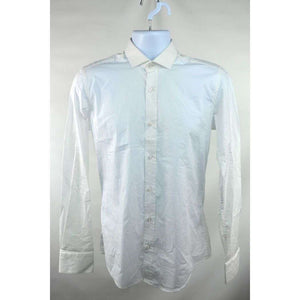 Simon and Simon White Long Sleeve Shirt Size 38 RRP70 DAR153