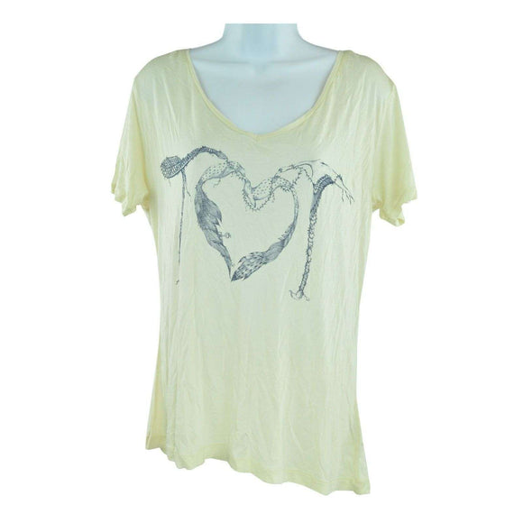 Twenty8Twelve Cream Short Sleeve Top Size L RRP75 LY27