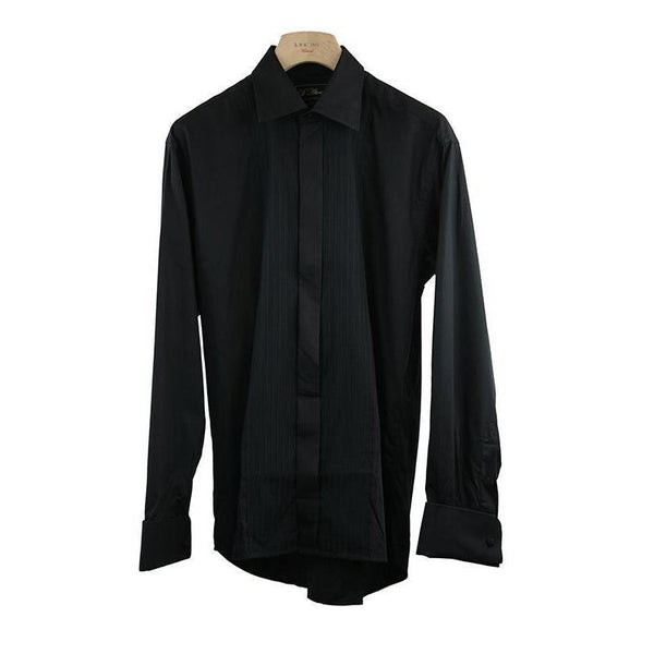 D'Alterio By Colin Ross Black Long Sleeve Dress Shirt Size 15.5 RRP90 PO07
