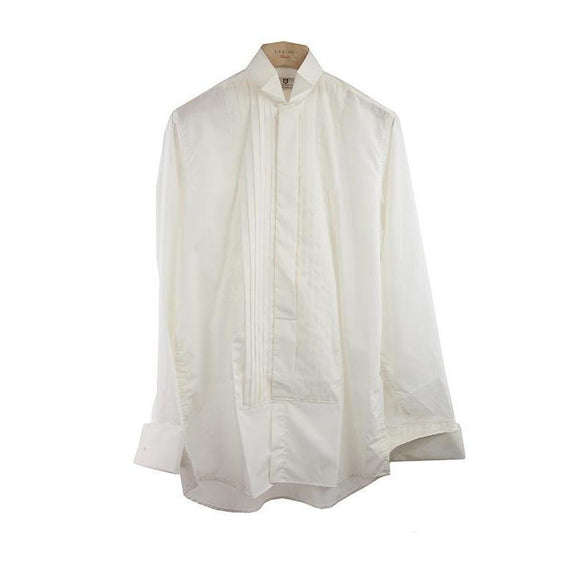 Frederick Theak Off White Dress Shirt Size 38 RRP90 PO08