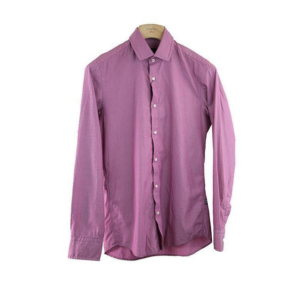 Hugo Boss Regular Fit Pink Polka Dot Shirt Size S RRP120 PO06