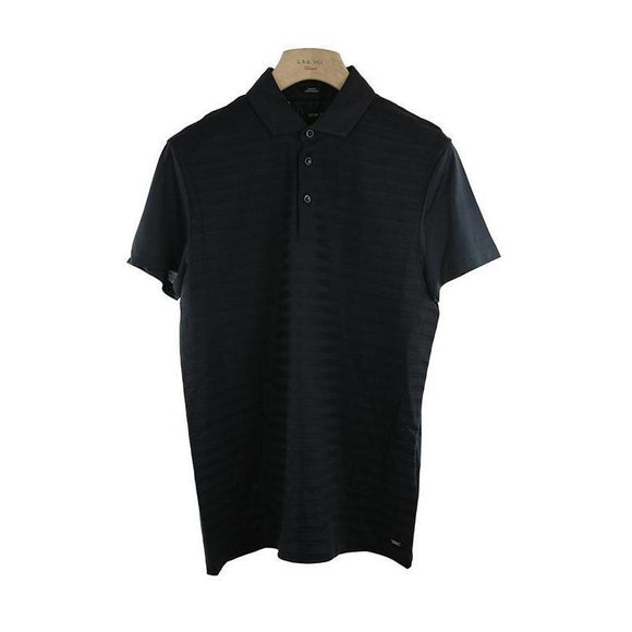 Hugo Boss Tailored Fit Black Short Sleeve Top Size S RRP165 PO05
