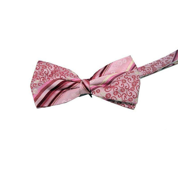 Pockets Branded Pink Pattern Bow Tie RRP25 PO10