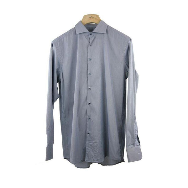 Roy Robson Shape Fit Grey Long Sleeve Shirt Size 41 RRP65 PO03