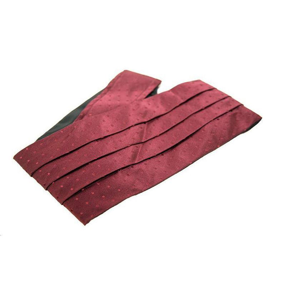 Pockets Branded Red Textured Silk Cummerbund RRP25 PO10