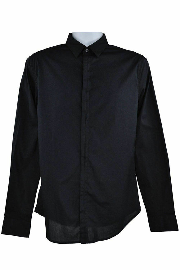 Armani Jeans long sleeve black shirt M RRP120 RETMAR