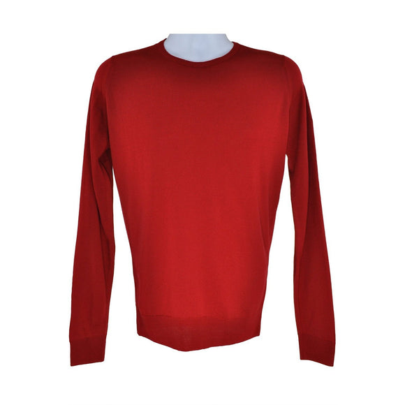 John Smedley Forest red long-sleeve jumper S RRP145 C01