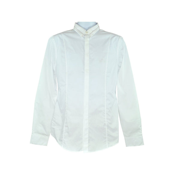 Calvin Klein white long-sleeve dress shirt size 39 RRP80 COP03