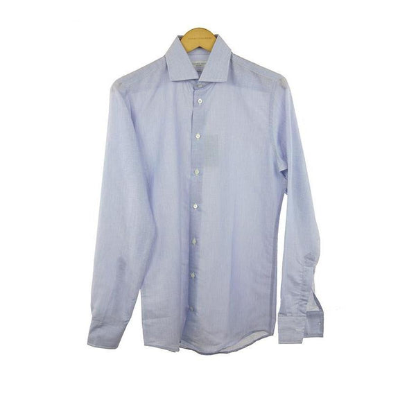 Richard James lilac linen long sleeve shirt size 15 RRP 145  C04