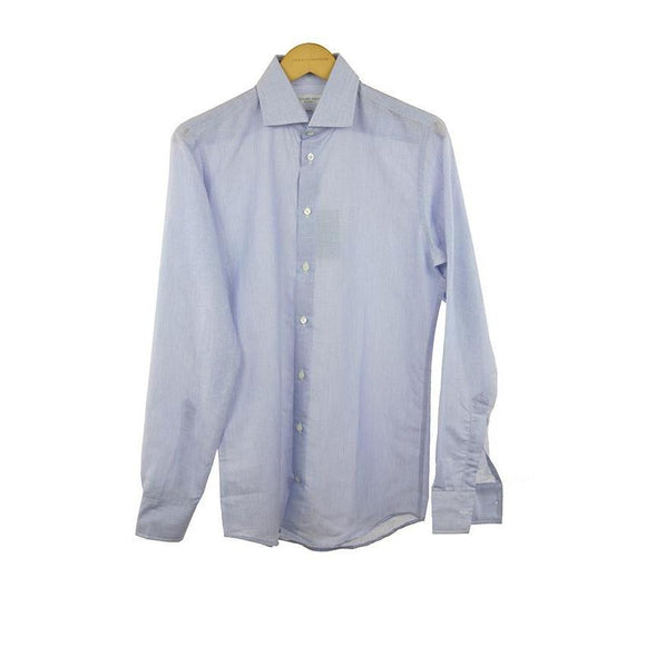 Richard James lilac linen long sleeve shirt size 16 RRP 145 C04