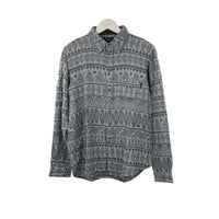 Paul Smith grey pattern long-sleeve shirt L RRP150 COP10
