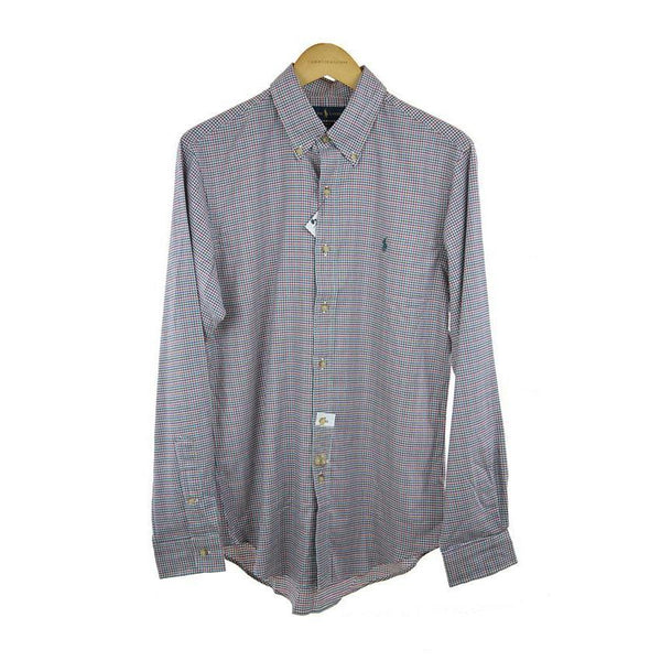 Ralph Lauren long-sleeve olive check shirt size M RRP 105 C18