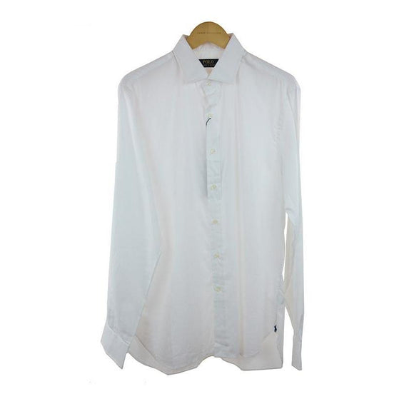 Ralph Lauren polo white long sleeve shirt size 42 RRP109 C19
