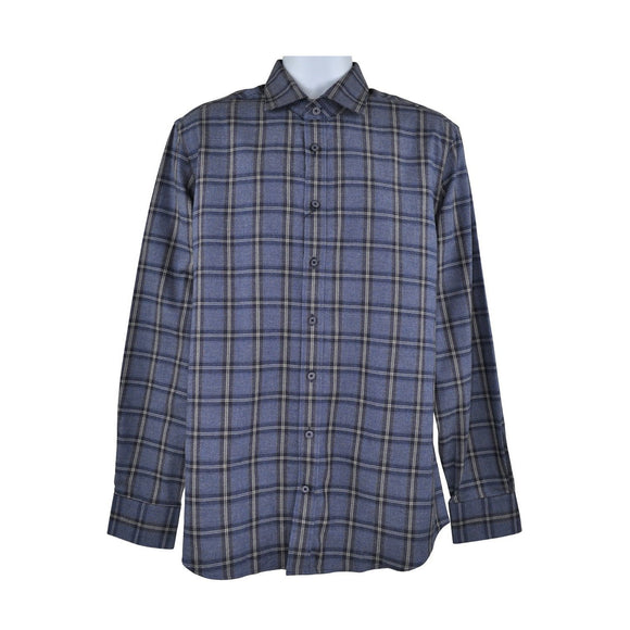 Hackett blue check long sleeve shirt size L RRP 130 D195