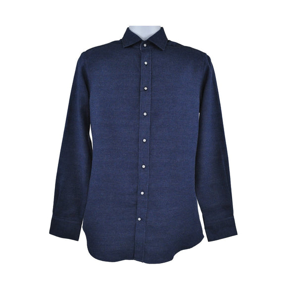 Hackett mid blue long sleeve shirt size S RRP 130 D195