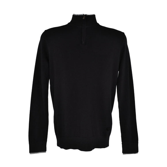 Armani jeans black long sleeve top size M RRP 135 D195