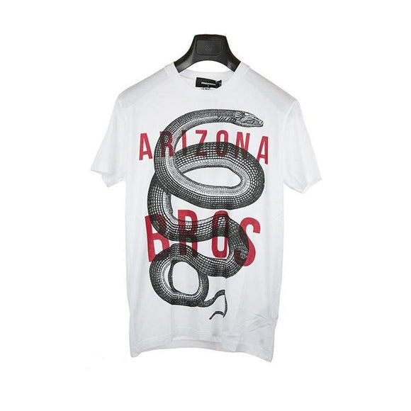 Dsquared white short sleeve t-shirt size S RRP175 DAR225