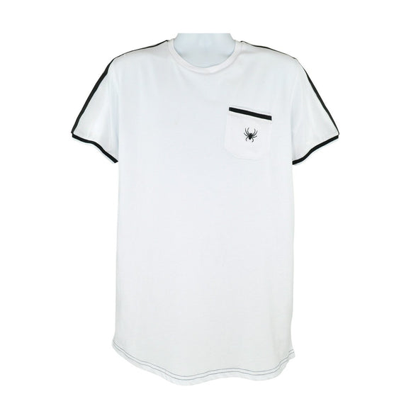 Intense white short sleeve crew neck tee with intense logo size S RRP40