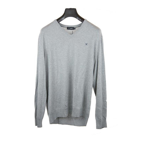 Hackett light grey long-sleeve jumper  XXL RRP115 DAR224
