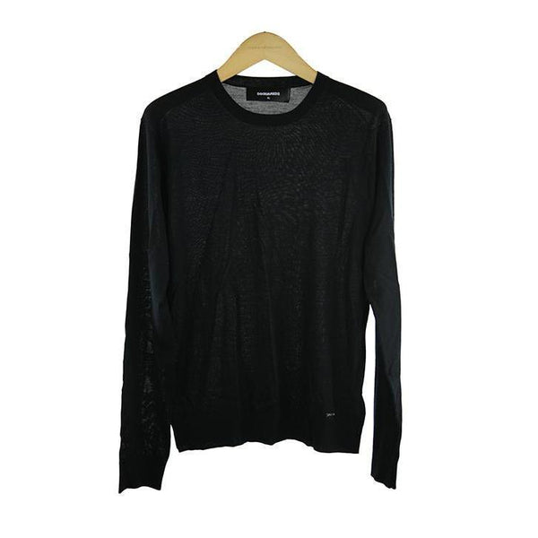 Dsquared black long-sleeve jumper size XL RRP290 D205