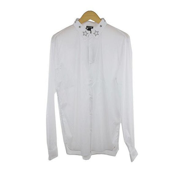 Just Cavalli white long sleeve shirt size M RRP190 DAR214