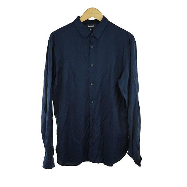 Just Cavalli dark blue long sleeve shirt size 50 RRP185¾DAR214
