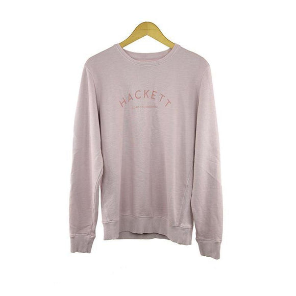 Hackett long-sleeve washed pink sweater size L RRP85 DAR216