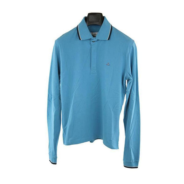 Vivienne Westwood bright blue long sleeve polo top size S RRP150 DAR216