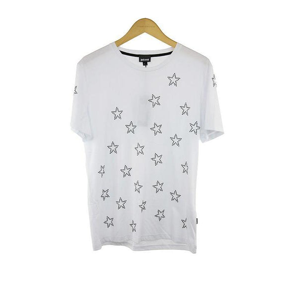 Just Cavalli white short sleeve t-shirt size S RRP170 DAR217