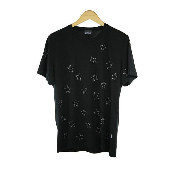 Just Cavalli black short sleeve t-shirt S RRP170 DAR217