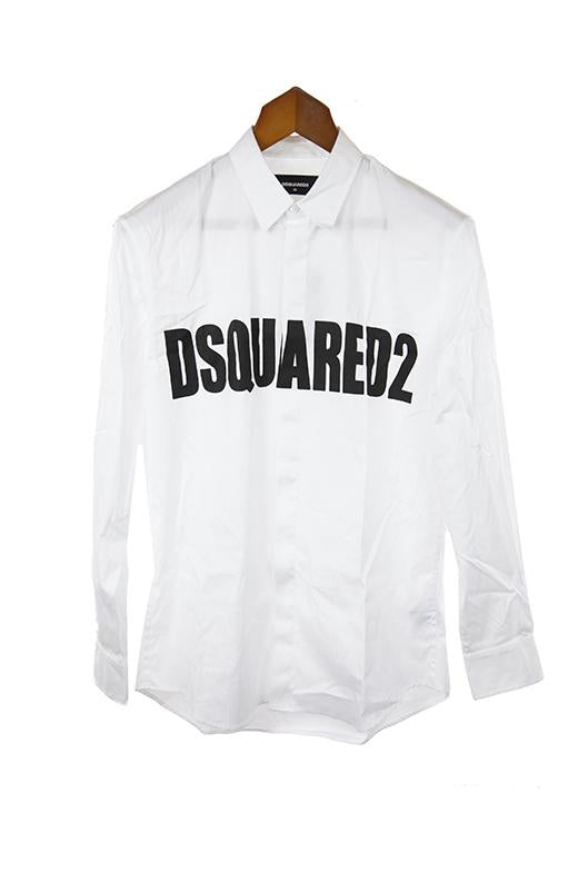 Dsquared white long sleeve shirt size M RRP315 DODD