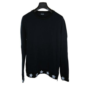Just Cavalli navy black long-sleeve jumper M RRP160 D211