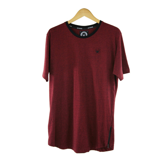 Intense burgundy short-sleeve t-shirt size L RRP 40 DF182