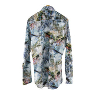 Profuomo long sleeve tropical pattern shirt size 41 RRP100 DV6