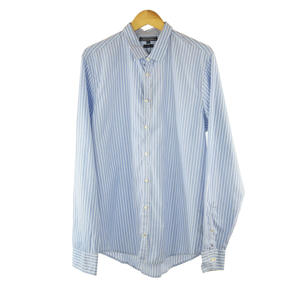 Tommy Hilfiger light blue striped slim fit long sleeve size XXL RRP90 DV7