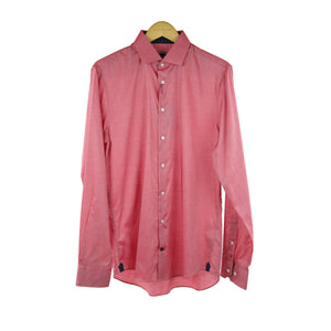 Tommy Hilfiger pink long sleeve shirt size 41R RRP 100