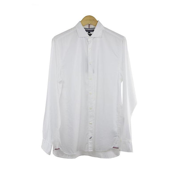 Tommy Hilfiger white long sleeve shirt New York fit size M RRP 75 DV10