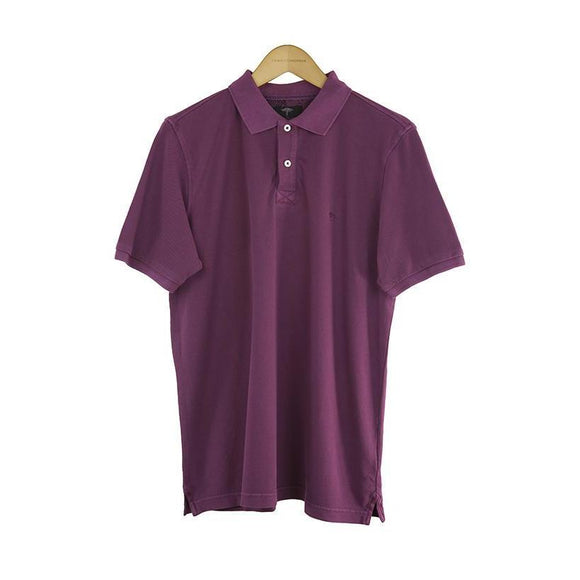 Fynch-Hatton berry short sleeve polo top size M RRP 70 DV11