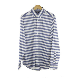 Tommy Hilfiger St Barbara blue stripe long sleeve shirt size M  RRP 90 DV11