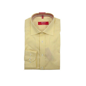 Eterna excellent Redline yellow pinstripe long sleeve shirt size 39 RRP 60 DV17