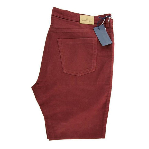 Wild Cotton stone cutter claret trousers size W42 RRP120 D25