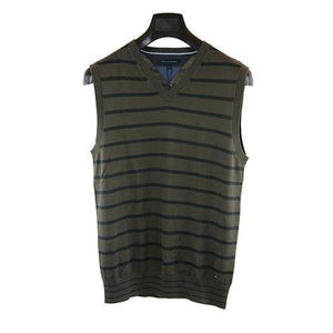Tommy Hilfiger dark brown striped vest top M RRP80 DV27