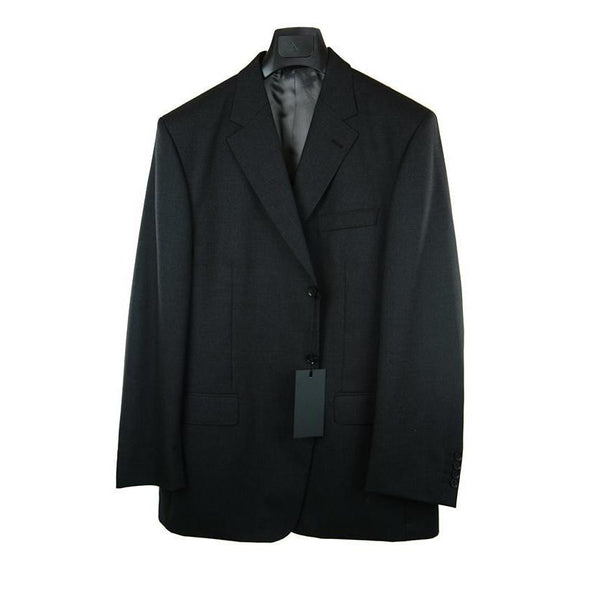 Tailored dark grey wool 3 piece suit size 106 RRP 599